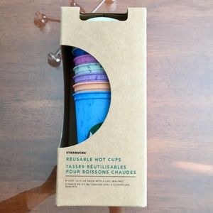 NWT STARBUCKS 6 Pack Reusable Hot Cups